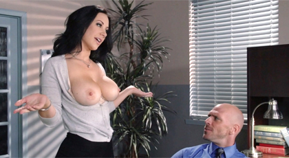 Fiery secretary fucks the boss