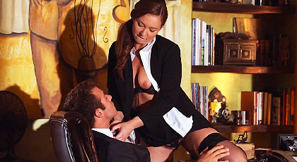 Sex play with Maddy at the office