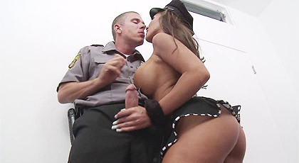 Rookie cop with his first hooker