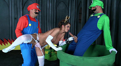 Mario and Luigi, fuck up the Princess Peach