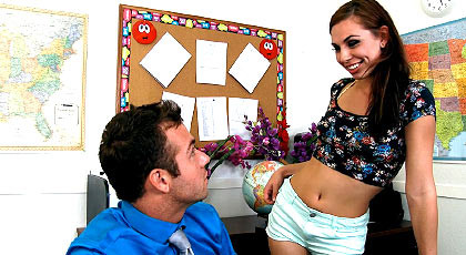 student seducing her teacher