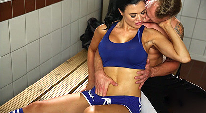sex in the gym locker room