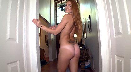 Redhead shaking her big ass fucked deep