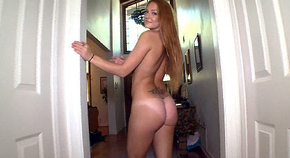 Redhead shaking her big ass fucked deep