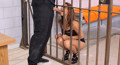 In jail sucks and fucks cock swallowing cum