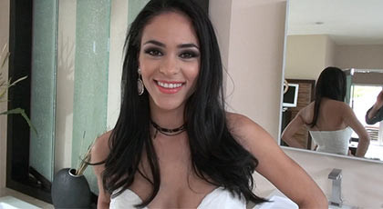 A beautiful latin women gets fucked by Rocco Siffredi