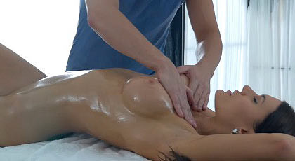 Excited with the work of the masseur