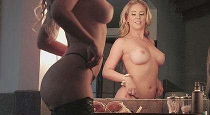 Busty hot blonde, sees accomplished her sexual dream of beig fucked fucked by a black man with a big thick cock