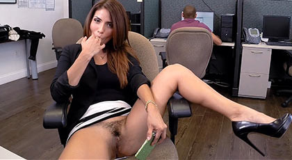 Horny latin secretary fucks hard in her job place fucking an she swallow cum who coming out of tip of dick