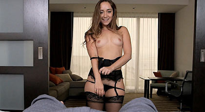 Sexy striptease, ending in a amazing blowjob and a great super fuck