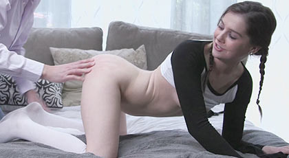 Kasey Warner the girl with braids wants to be penetrated by a mature man with a hard tail