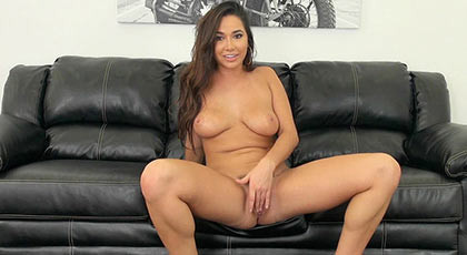 Porn casting in direct webcam with sexy brunette KARLEE GREY