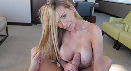 Creampie with amazing cocksucker busty milf