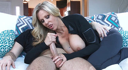 Busty Hot Mom Julia Ann seduces her son\'s friend