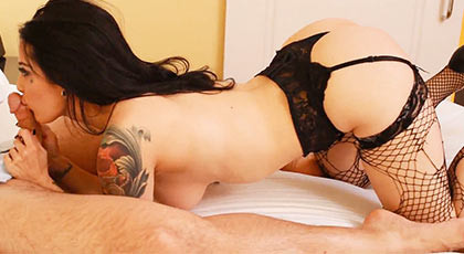 Paying for a crazy night of sex with her favorite porn actress, Katrina Jade