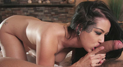 Katrina Jade wants an internal cum in her pretty pussy and applied carefully to the waiter cock