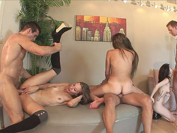anal gangbang and cumshots in the face in the house, of the singles neighbors