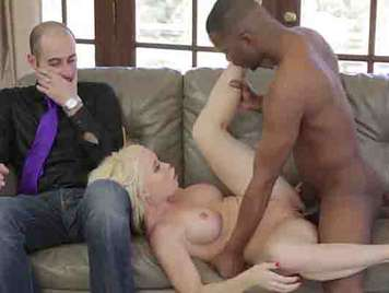 Busty blonde mature with black unfaithful