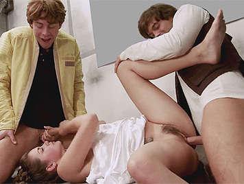 Luke Star Wars Porn Parody - Porn Star Wars Luke Skywalker and Han Solo, fuck withthe Princess Leia