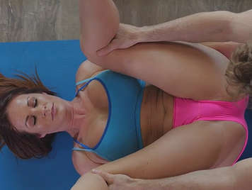 Mature busty and big ass fucks in the gym