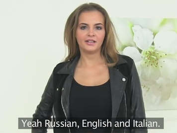 Russian Italian girl in a fake porn casting with a fake agent