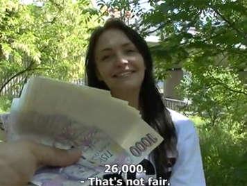 Czech caught on the street fucks for money