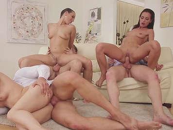 Rich sex orgy among friends