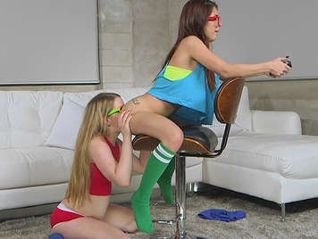Two young playing wing 18 and having sex play between them and a friend.