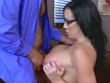 mature secretary slut fucks her boss to get all the milk