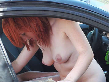 Young couple fucking in the car caught red-handed by a voyeur