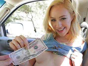 Young blonde hippie fucks for money