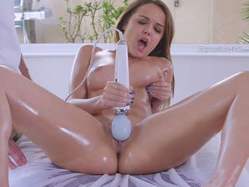 much oil massage porn and sex toy