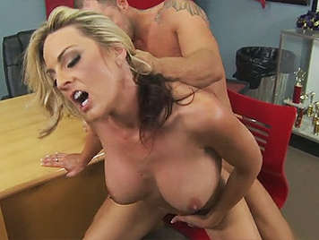 Blonde milf with big tits fucked wildly by Nacho vidal