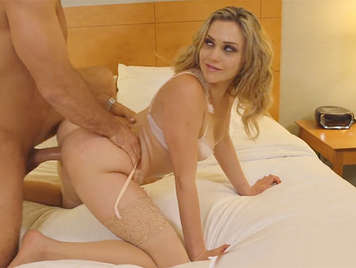 Fucking on all Fours to a blonde  luxury slut with a stunning ass
