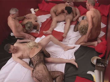 European orgy in a couples exchange club