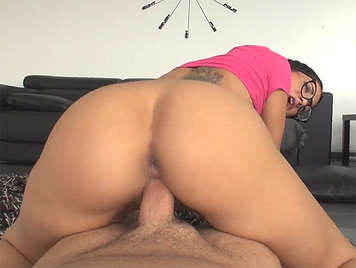 Julia Lucia with glasses fucked in porn video pov