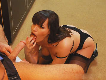 Expert busty milf, luxury whore sucking a big cock
