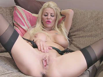 Fake agent, fucking with a blonde of huge tits with garters