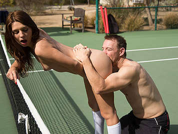 Fucking a little schoolgirl tennis player with a juicy ass