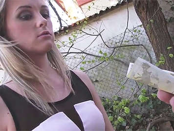 Czech innocent is seduced in the street to fuck for money