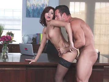Intense fucking at office with the slut secretary