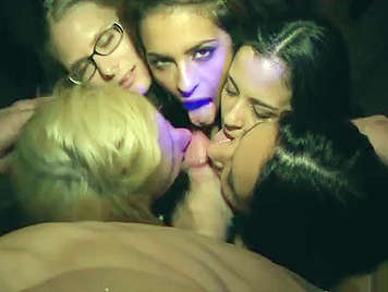 Orgy with very vicious European girls, and teachers doing blowjobs