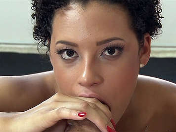 Beautiful mulatto girl, fucking and sucking big cock of his stepfather