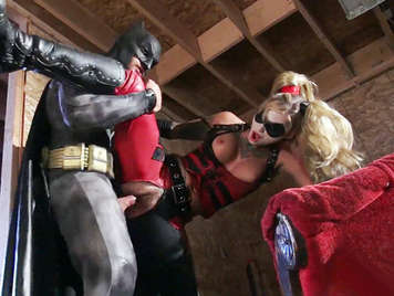 Porn Parody with Batman, who is horny and fucks the most dangerous blonde in the City