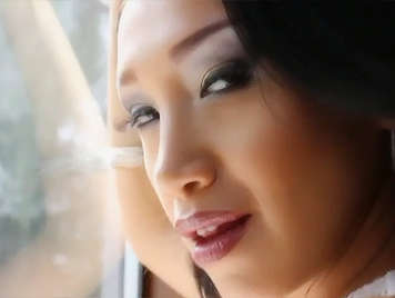 Stylish asian posh babe, in sexy lingerie sucks and fucks, a thick dick