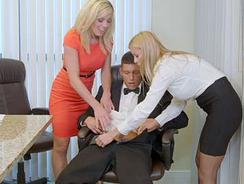 Fucking in the office with two secretaries very whores