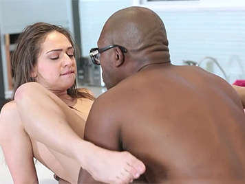 Black man sucking the pussy to a young white girl
