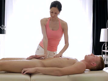massage with happy ending with a young russian masseur
