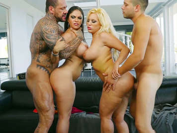 Sex foursome with two latinas sex goddesses big tit tits
