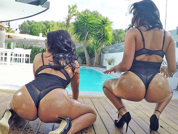 Fucking with two big-titted Latina sisters with huge asses